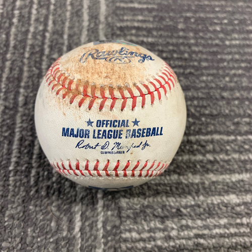 Photo of 2019 Game Used Baseball vs. Milwaukee Brewers - 6/14/19 - B-3: Zach Davies to Steven Duggar - Strike Out Swinging