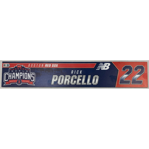 Photo of Rick Porcello Game Used June 9, 2019 Locker Tag