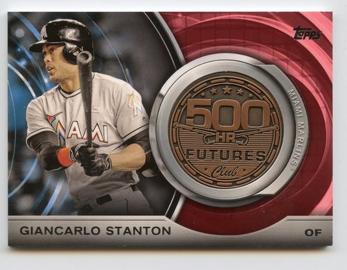 Photo of 2016 Topps Update 500 HR Futures Club Medallions #500M4 Giancarlo Stanton