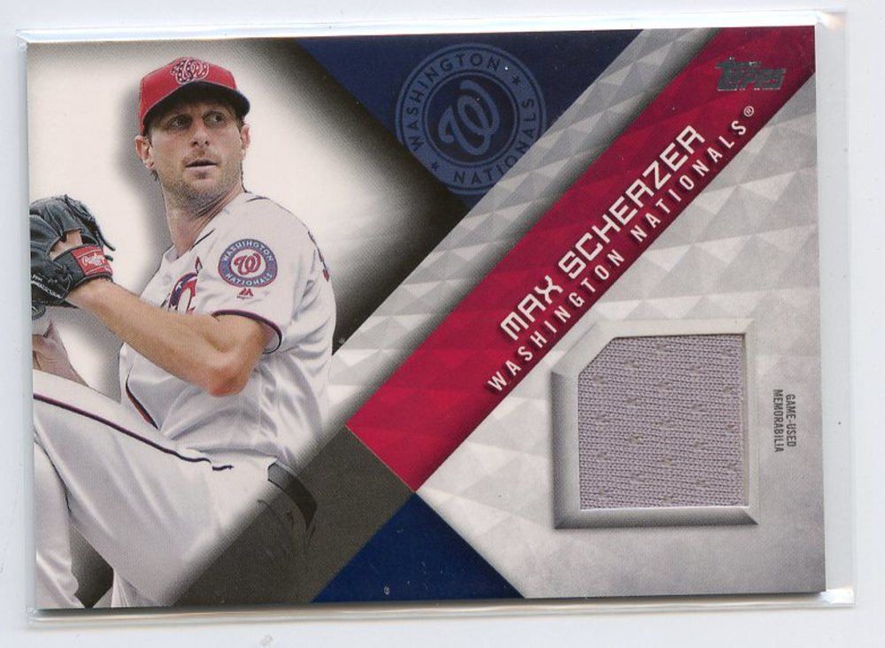 2018 Topps Major League Materials #MLMMX Max Scherzer S2