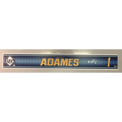 Photo of Team Issued Autographed Spring Training Locker Tag: Willy Adames