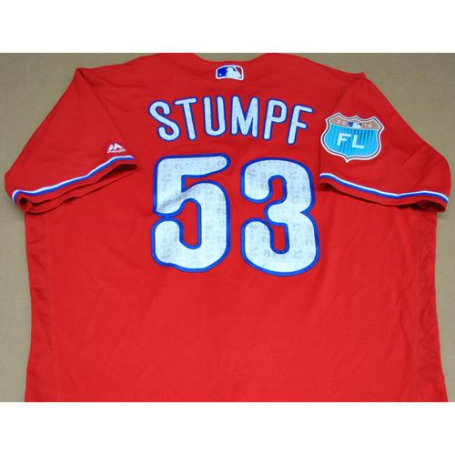Photo of Game-Used 2016 Spring Training Jersey - Daniel Stumpf - Size 46 - Philadelphia Phillies
