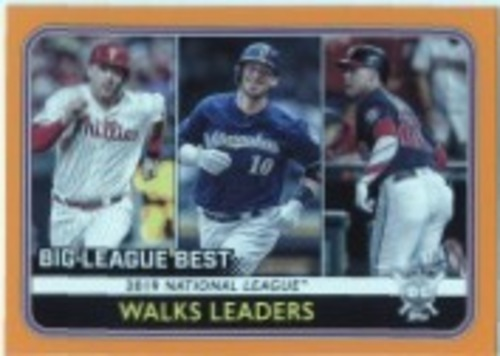 Photo of 2020 Topps Big League Orange #246 Yasmani Grandal/Juan Soto/Rhys Hoskins LL