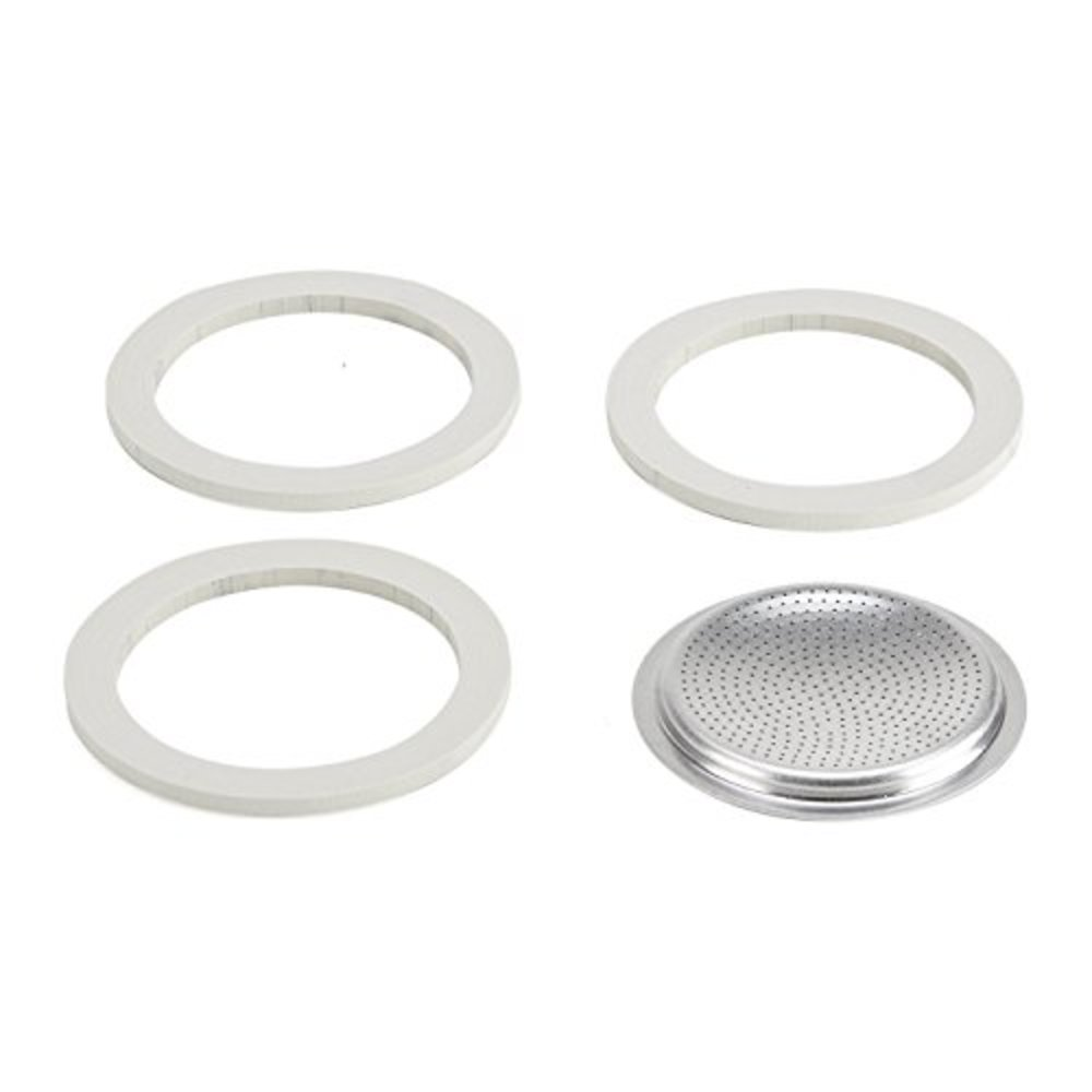 Photo of Bialetti 0800013 Blister Packaging 3 gaskets & Filter with 2 Cups
