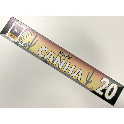 Photo of Game-Used 2021 Spring Training Locker Nameplate - Mark Canha