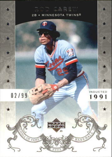 Photo of 2005 Upper Deck Hall of Fame Silver #66 Rod Carew