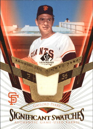 Photo of 2004 SP Legendary Cuts Significant Swatches #GP Gaylord Perry Jsy