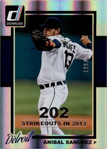 Photo of 2014 Donruss Stat Line Season #292 Anibal Sanchez/202