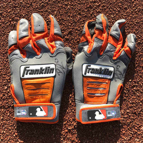 Photo of San Francisco Giants - Autographed Batting Gloves - Ryder Jones (pair)