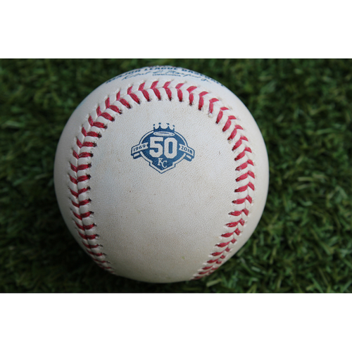 Photo of Game-Used Baseball: Danny Jansen MLB Debut - 2nd Career Hit (TOR @ KC - 8/13/18)