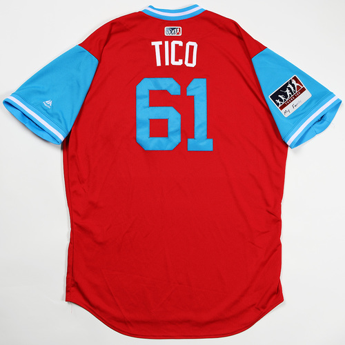 "Photo of Edubray ""Tico"" Ramos Philadelphia Phillies Team Issued Jersey 2018 Players' Weekend Jersey"