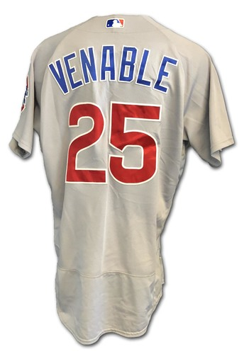 Photo of Will Venable Game-Used Jersey -- Cubs at White Sox -- 9/22/18; Also Worn Opening Day 2018 -- Cubs at Marlins -- 3/29/18