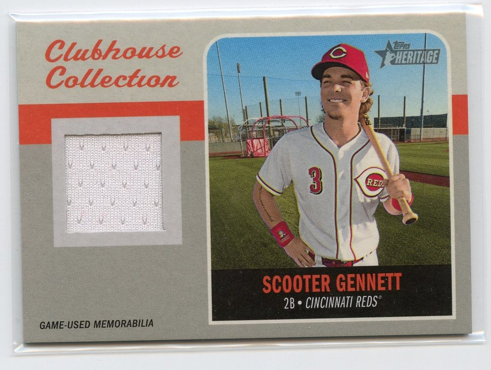2019 Topps Heritage Clubhouse Collection Relics #CCRSG Scooter Gennett