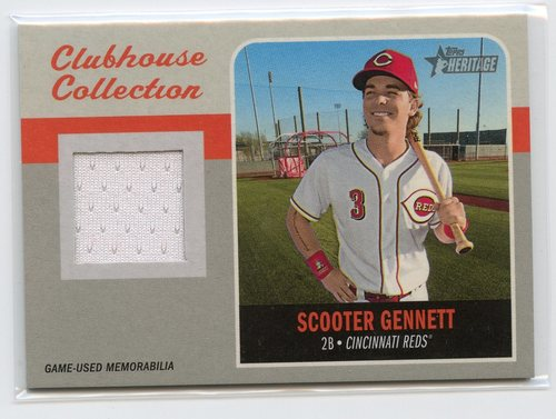 Photo of 2019 Topps Heritage Clubhouse Collection Relics #CCRSG Scooter Gennett