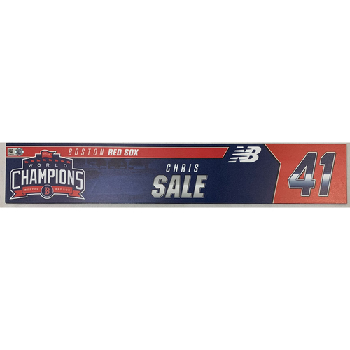 Photo of Chris Sale Game Used June 9, 2019 Locker Tag