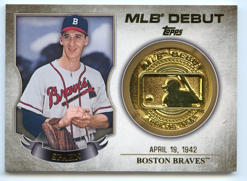 Photo of 2016 Topps MLB Debut Medallion #MLBDM210 Warren Spahn