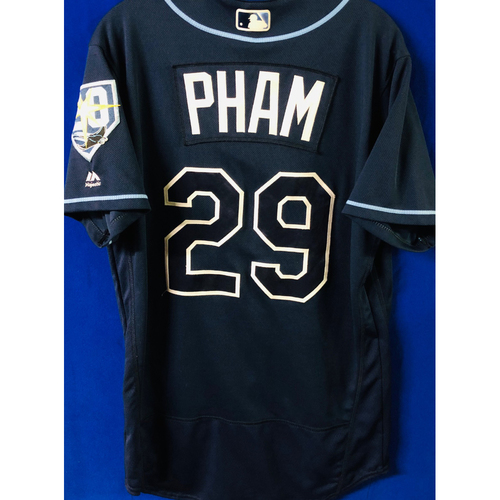 Photo of National Keratoconus Foundation: Tommy Pham - Game-Used Navy 20th Anniversary Jersey - September 29, 2018 v TOR
