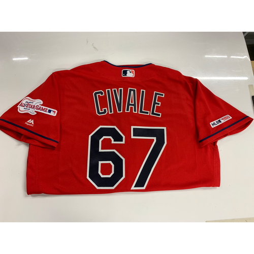 Photo of Aaron Civale 2019 Team Issued Alternate Home Jersey with ASG Patch