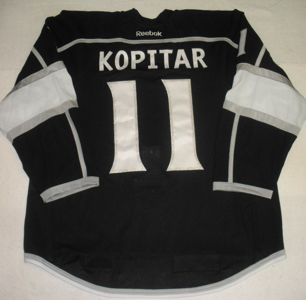 e34f98872 Anze Kopitar - Los Angeles Kings -Stanley Cup Winning Banner Patch Game-Worn  Jersey w A