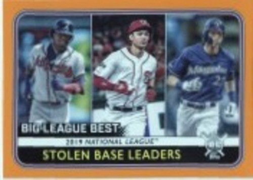 Photo of 2020 Topps Big League Orange #248 Christian Yelich/Trea Turner/Ronald Acuna Jr. LL