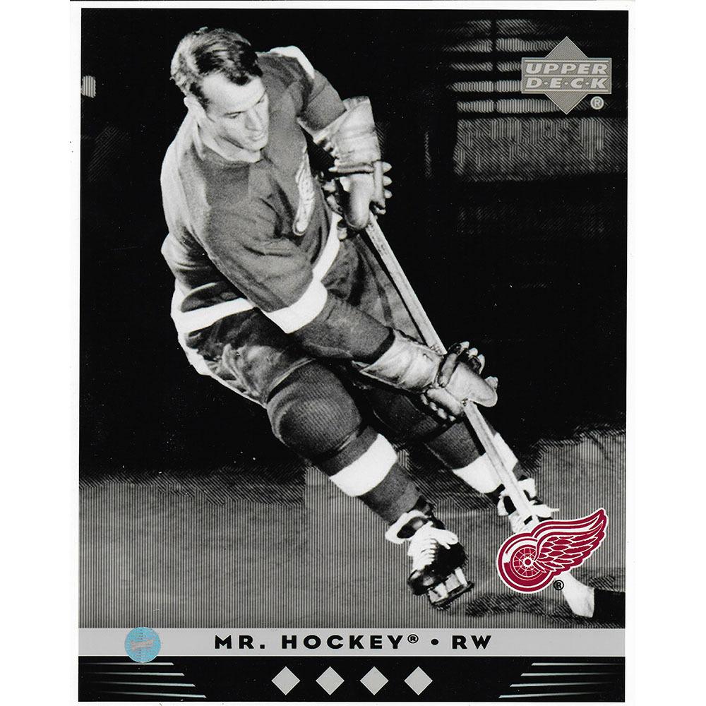 Gordie Howe Detroit Red Wings Upper Deck 8X10 Photo