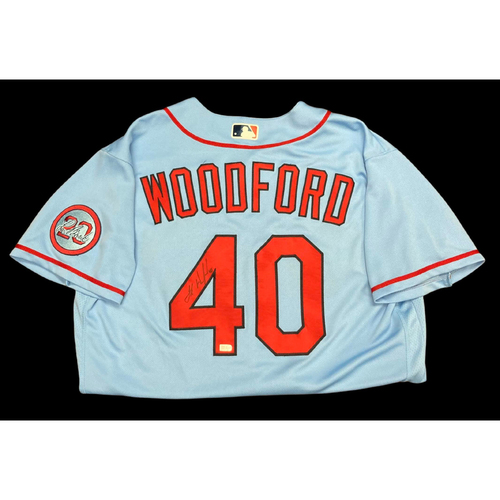 Jake Woodford Autographed Team Issued Road Alternate Jersey w/ Lou Patch (Size 46)