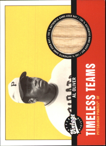 Photo of 2001 Upper Deck Vintage Timeless Teams #PIAO Al Oliver Bat