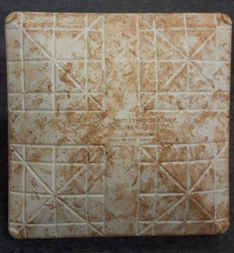 Photo of Authenticated Game Used Base - July 29, 2016 vs BAL. 2nd Base for Innings 3-5.  Edwin Encarnacion's 300th career double.