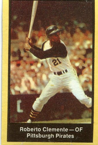 Photo of 1969 Nabisco Team Flakes #5 Roberto Clemente S3