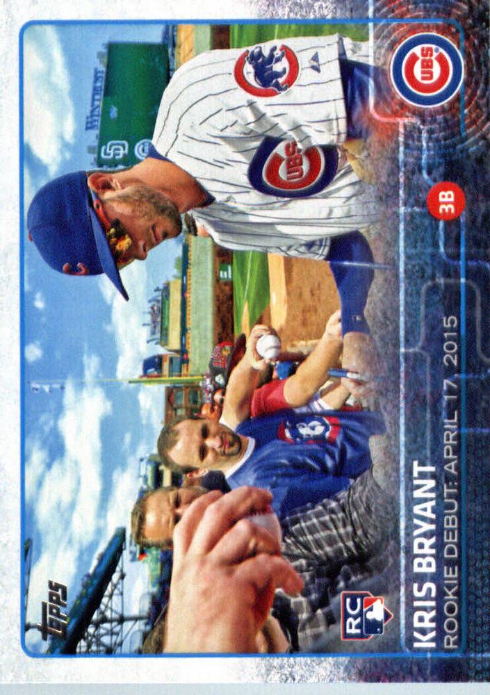 2015 Topps Update #US283 Kris Bryant Rookie Card
