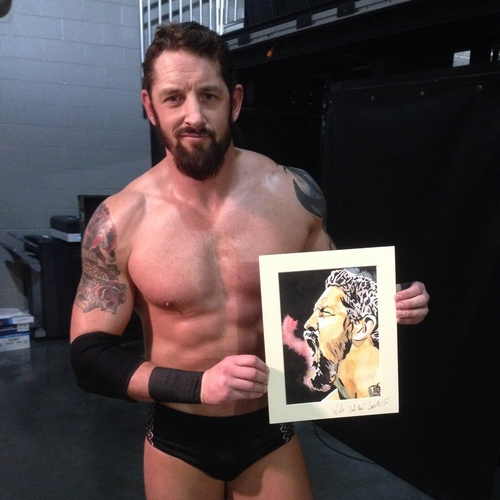 Bad News Barrett Signed Painting by Rob Schamberger