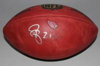 CARDINALS - PATRICK PETERSON SIGNED AUTHENTIC FOOTBALL W/ CARDINALS TEAM LOGO