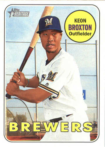 Photo of 2018 Topps Heritage #243 Keon Broxton