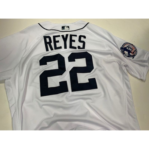 Photo of Game-Used Alan Trammell Number Retirement Day Jersey: Victor Reyes