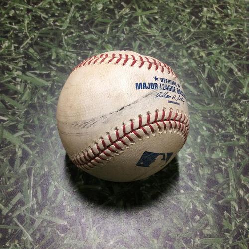 Photo of Game-Used Baseball PIT@MIL 08/14/11 - Shaun Marcum - Ryan Ludwick: Foul