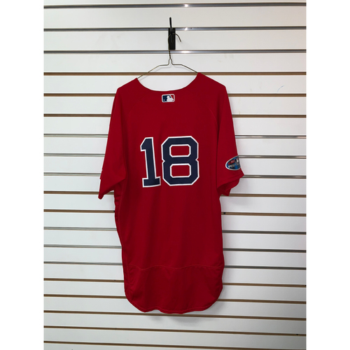 Photo of Mitch Moreland Game Used October 5 & 6, 2018 ALDS Games 1 & 2 Home Alternate Jersey