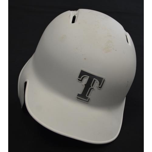 "Photo of Willie ""OSITO"" Calhoun Texas Rangers Game-Used 2019 Players' Weekend Helmet"