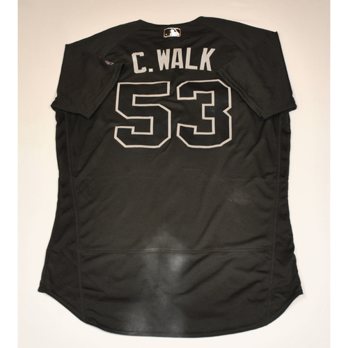"Photo of Christian ""C. WALK"" Walker Arizona Diamondbacks 2019 Game-Used Players' Weekend Jersey"