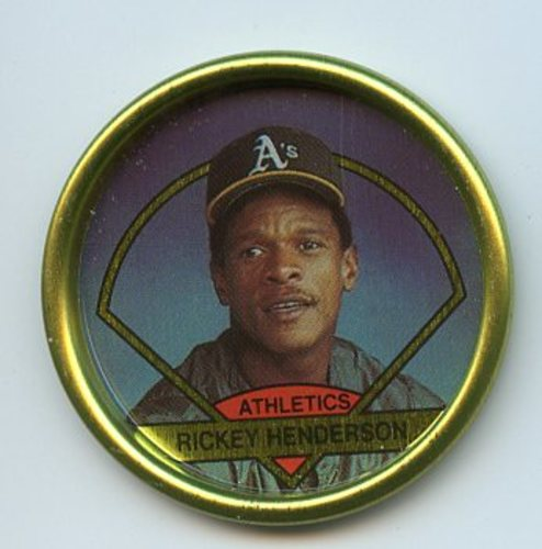 Photo of 1990 Topps Coins #17 Rickey Henderson