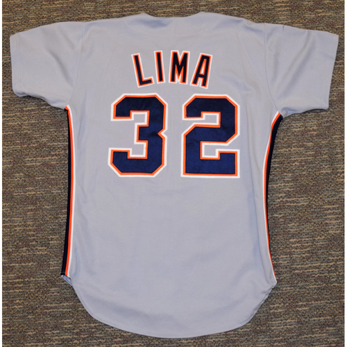 Photo of Jose Lima Detroit Tigers #32 Road Jersey (NOT MLB AUTHENTICATED)