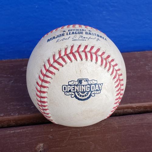 Photo of 2020 Philadelphia Phillies Game-Used Baseball - PRESALE: Opening Day 4/2 vs. MIL