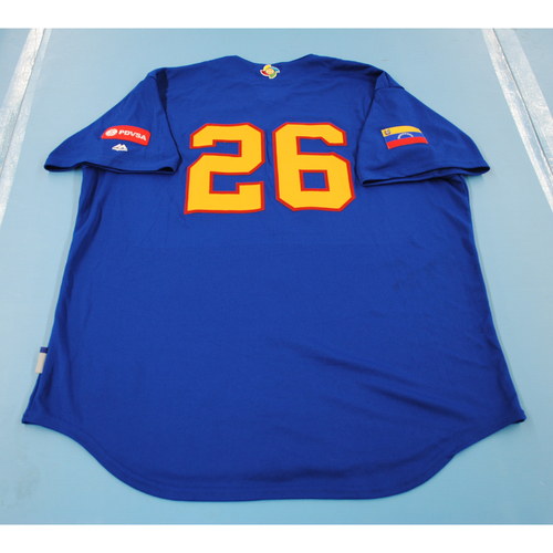 Photo of 2017 World Baseball Classic: Venezuela Batting Practice Jersey #26 - Roberto Espinoza - Size XL