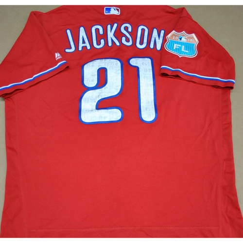 Photo of Game-Used 2016 Spring Training Jersey - Ryan Jackson - Size 46 - Philadelphia Phillies