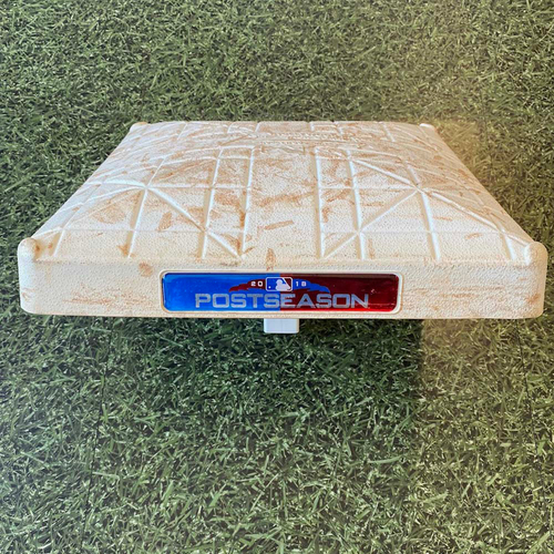 Photo of Game-Used Base: 10/13/18 NLCS Gm 2 - 2nd INN 4-6