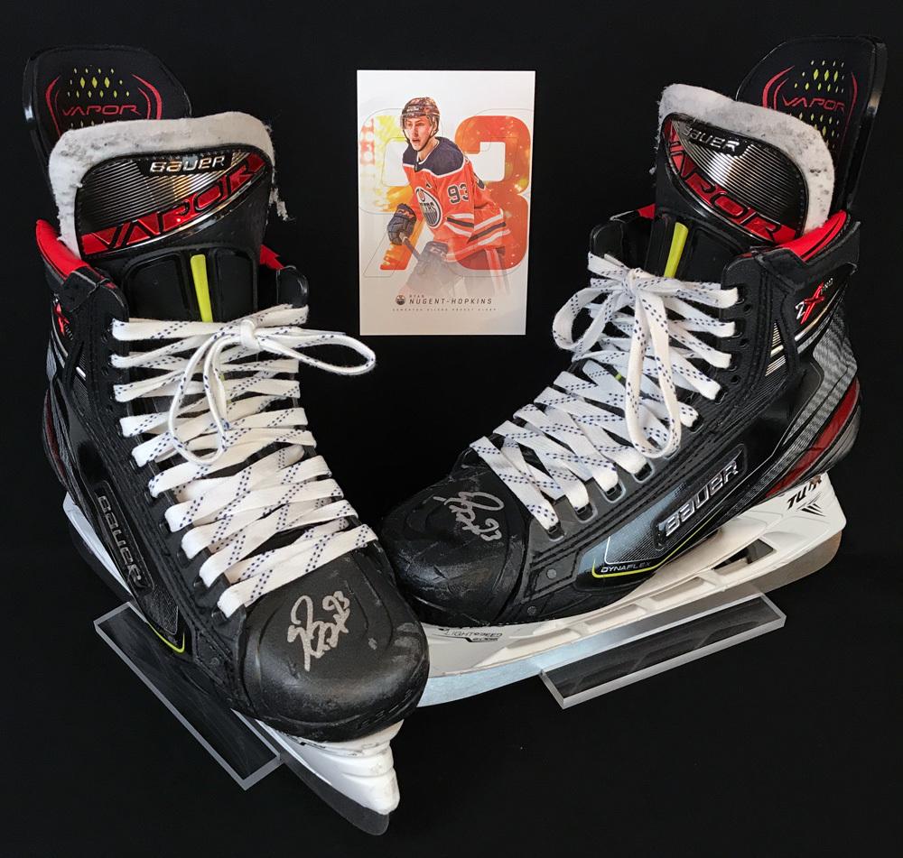 Ryan Nugent-Hopkins #93 - 2019-20 Edmonton Oilers Game-Worn Bauer Skates