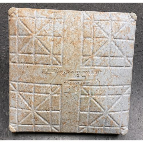 Photo of 2019 Game Used Opening Day Base used on 4/5 vs. Tampa Bay Rays - 2nd Base from Innings 7-9