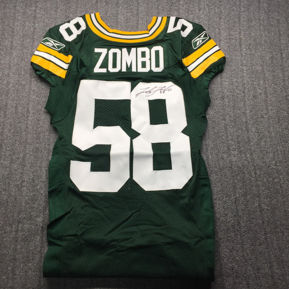 PCF - Packers Frank Zombo SBXLV Signed Game Issued Jersey