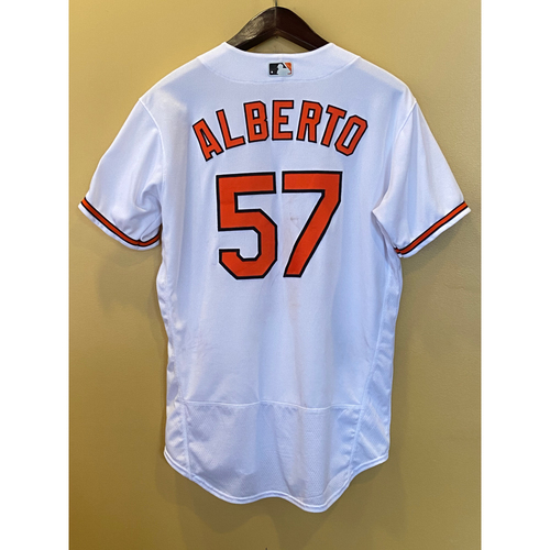 Photo of Hanser Alberto - Opening Day Home Jersey - Game-Used