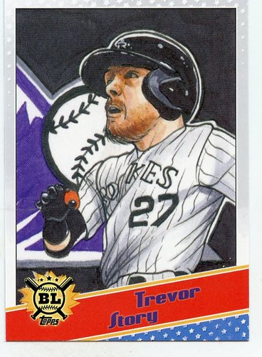 Photo of 2020 Topps Big League Star Caricature Reproductions #SCOTS Trevor Story