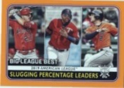 Photo of 2020 Topps Big League Orange #253 Alex Bregman/Nelson Cruz/Mike Trout LL